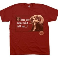The Monty Python Tim the Enchanter There Are Some Who Call Me... Dark Red Mens T-shirt Tee