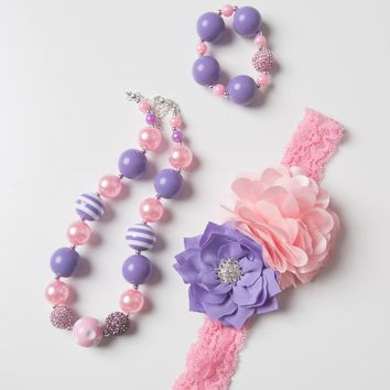 girls purple necklace