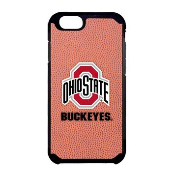 NCAA Ohio State Buckeyes Classic Football Pebble Grain Feel iPhone 6 Case, One Size, Brown