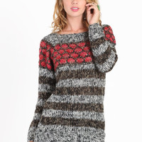 Rose Like Sweater Tunic - $39.00 : ThreadSence.com, Your Spot For Indie Clothing  Indie Urban Culture