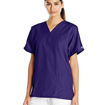 Cherokee Women's V-Neck Scrub Top, Grape, Small