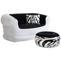 Amazon.com: Pure Comfort 8513LS Inflatable Zebra Love Seat and Ottoman: Sports & Outdoors