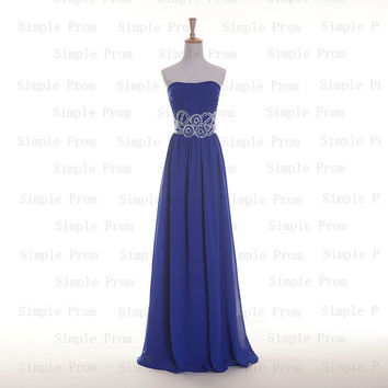 Custom A-line Sweetheart Sleeveless Floor-length Chiffon Beading Fashion Prom Dress Bridesmaid Dress Formal Evening Dress Party Dress 2013