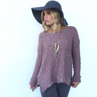 Ever Bloom Knit Sweater In Peony Plum