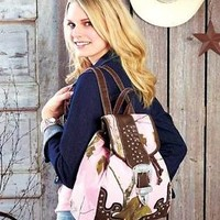 Stylish Women's Pink Realtree Camo Backpack Pockets College Work School Travel