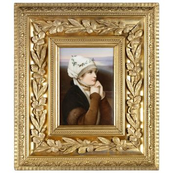 Dresden Hand-Painted Porcelain Plaque