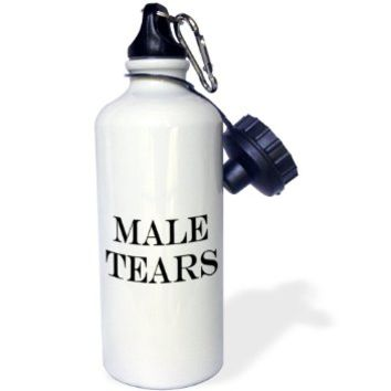 3dRose wb_193465_1 Male Tears Sports Water Bottle, 21 oz, White
