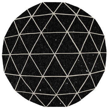 Terry Fan Geodesic Circle Print