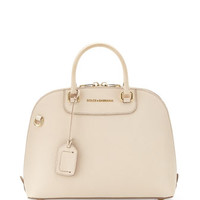 Megan Stamped Dome Satchel Bag, Nude