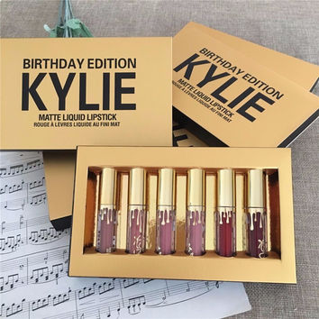 6 - color matte kylie lip gloss gift box