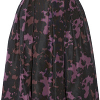 Burberry London - Printed silk-faille skirt