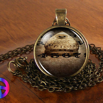 Ouija Board Gothic Spirit Occult Antique Vintage Necklace Pendant Jewelry Gift