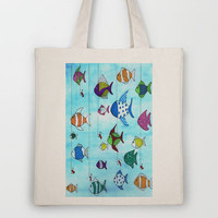 Tropical Fishing Tote Bag by Rosie Brown | Society6