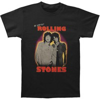 Rolling Stones Men's  Mick & Keith T-shirt Black Rockabilia