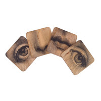 Dollface Wooden Coasters