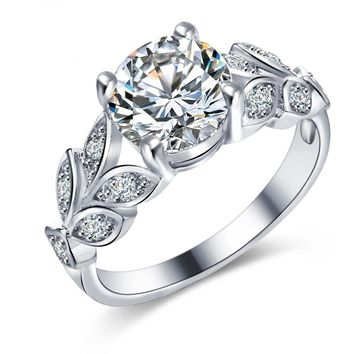 crystal wedding rings - Crystal Wedding Rings