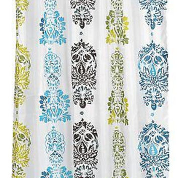"Totem Pole Extra Long Fabric Shower Curtain Size: 70"" x 84"""