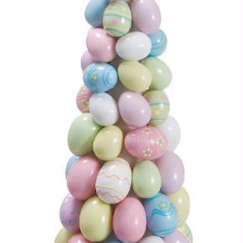 Easter Topiary Cone - Mix Of Decorative Eggs