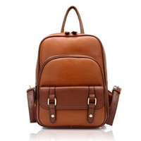 Vintage Street Brown Leather Backpack