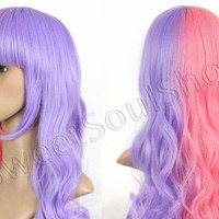 Sweet Taffy Split Wig (made to order)