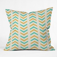 Allyson Johnson Sunshine And Mint Throw Pillow