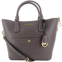 Michael Kors Greenwich Women's Large Leather Satchel Handbag