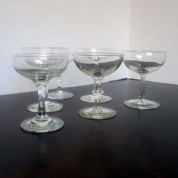 Vintage Mixed Champagne Coupe, Champagne Glass Set of 6 - Instant Collection