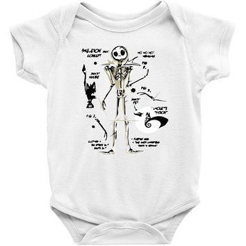 a skeleton concept Baby Bodysuit