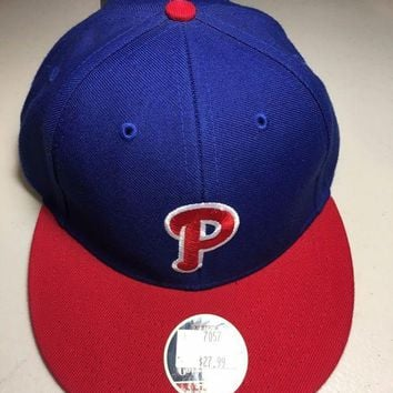CREYONC. AMERICAN NEEDLE COOPERSTOWN COLLECTION PHILADELPHIA PHILLIES FITTED HAT
