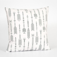 Tribal Pillow Cover. Arrow Decor. White Throw Pillow Cover. Tribal Cushion. Tribal Throw Pillow. Arrow Pillow Cover. Native American Decor