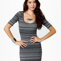 Lost Kat Dress - Black Dress - Print Dress - $48.00