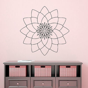 Mandala Wall Decal Lotus Stickers Vinyl Decals Ethnic Art Murals Home Decor Interior Design Dorm Sticker Bohemian Bedding Decor KY111