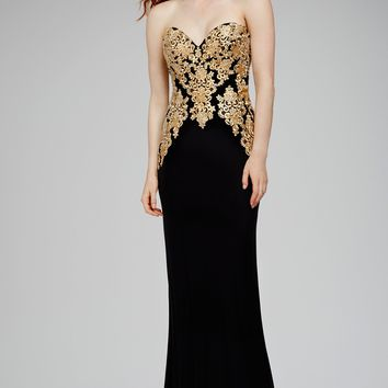 Black Strapless Evening Dress 31126 - Evening Dresses