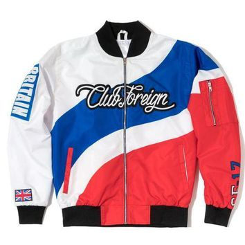 Club Foreign Britain Three Color Bomber Jacket - Beauty Ticks