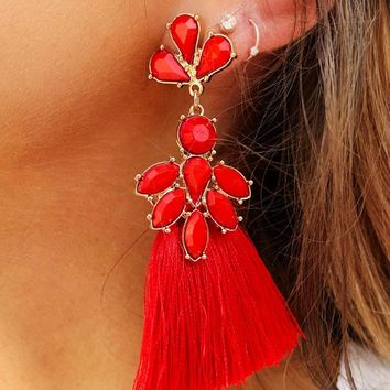 Free To Be Me Earrings: Red