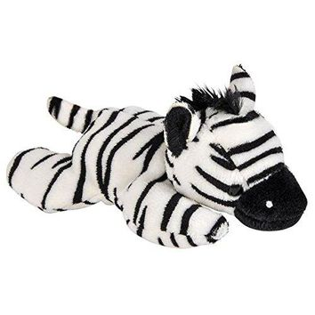 Wildlife Tree 3.5 Inch Zebra Mini Small Stuffed Animals Bulk Bundle of Zoo Animal Toys or Jungle Safari Party Favors for Kids Pack of 12