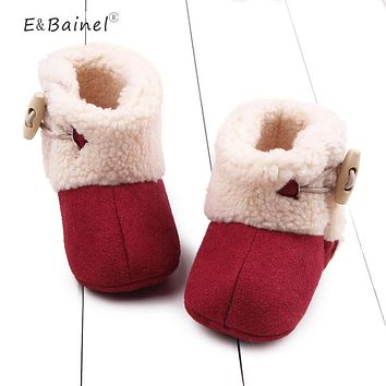Winter Baby Booties Warm Newborn Baby Girls Shoes First Walkers Shoes Infant Toddler Soft Bottom Anti-slip Baby Snow Boots