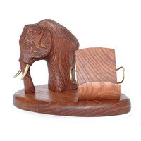 """New Wooden Stand """"MAMMOTH"""". IPhone 6/5/4S/4/3GS Wood Table Stand. Home Decor - Smartphone Stand. Handcrafted Natural Ash-Tree"""