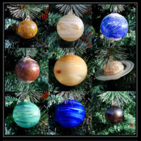 Hand Blown Art Glass Solar System Ornament Collection | GlassSculpture.org