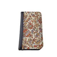 Floral iPhone 5C wallet case MADE IN USA - different designs flip case (Vintage 2)