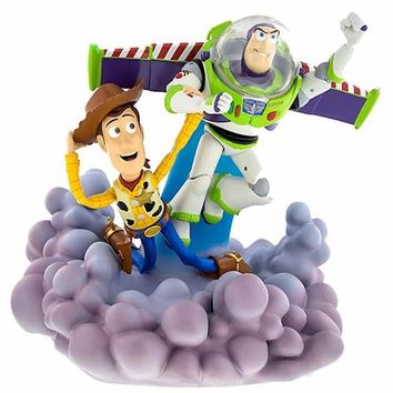 disney parks buzz lightyear & woody light up medium figurine statue new with box