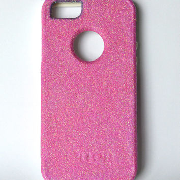 Custom iPhone 5 Glitter Otterbox Commuter Cute Case,  Custom  Glitter Bubble gum / White Otterbox Color Cover for iPhone 5
