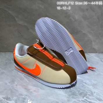 DCCK N898 Kendrick Lamar x Nike Cortez Basic Slip Casual Running Shoes Maroon Orange