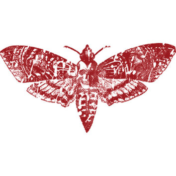 Death Moth (Red) Plastisol Heat Transfer