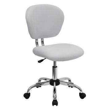 White Mesh Mid-Back Desk Chair Computer Office Chair