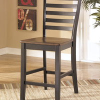 0-029083>Alonzo Set of 2 Dining Chairs Two-tone Brown