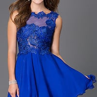 Short Sleeveless Homecoming Dress