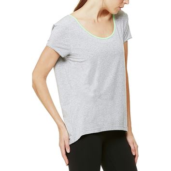 Alo Yoga Dune Shirt - Short Sleeve - Women's Steel Heather/Envy,