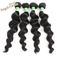 Peruvian Loose Wave Bundles 1/3/4 pcs Peruvian Virgin Hair Loose Deep Bundles 100% Human Hair Weave Bundles Angel Grace Hair