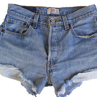Levi's Original 501 High-waisted button-fly shorts